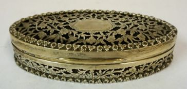 An Edwardian Silver Boat Shaped Trinket Box, Hallmarks for George Nathan & Ridley Hayes, Chester