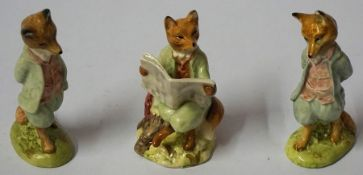 "A Beswick Beatrix Potter Porcelain Figure of ""Foxy Reading"", 12cm high, also with a Beswick"
