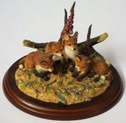 "A Border Fine Arts Figure Group of ""Young Ones"", 11cm high, with box"