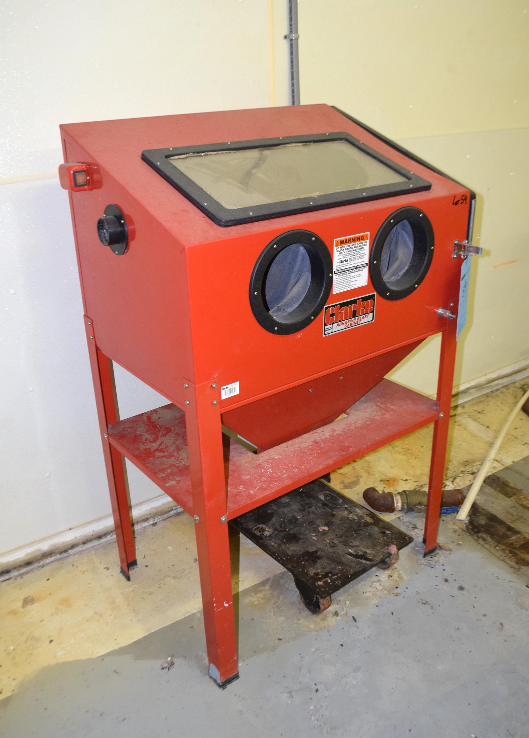Previous  sc 1 st  Bidspotter.com & Clarke Abrasive Blast Cabinet Model SB9007 Serial# 52249-01184.
