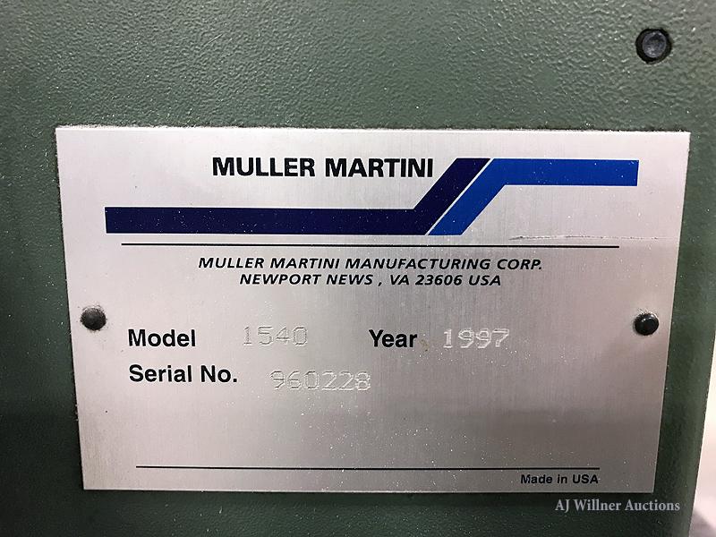Lot 11 - Muller Martini Apollo Model 1540 Counter Stacker