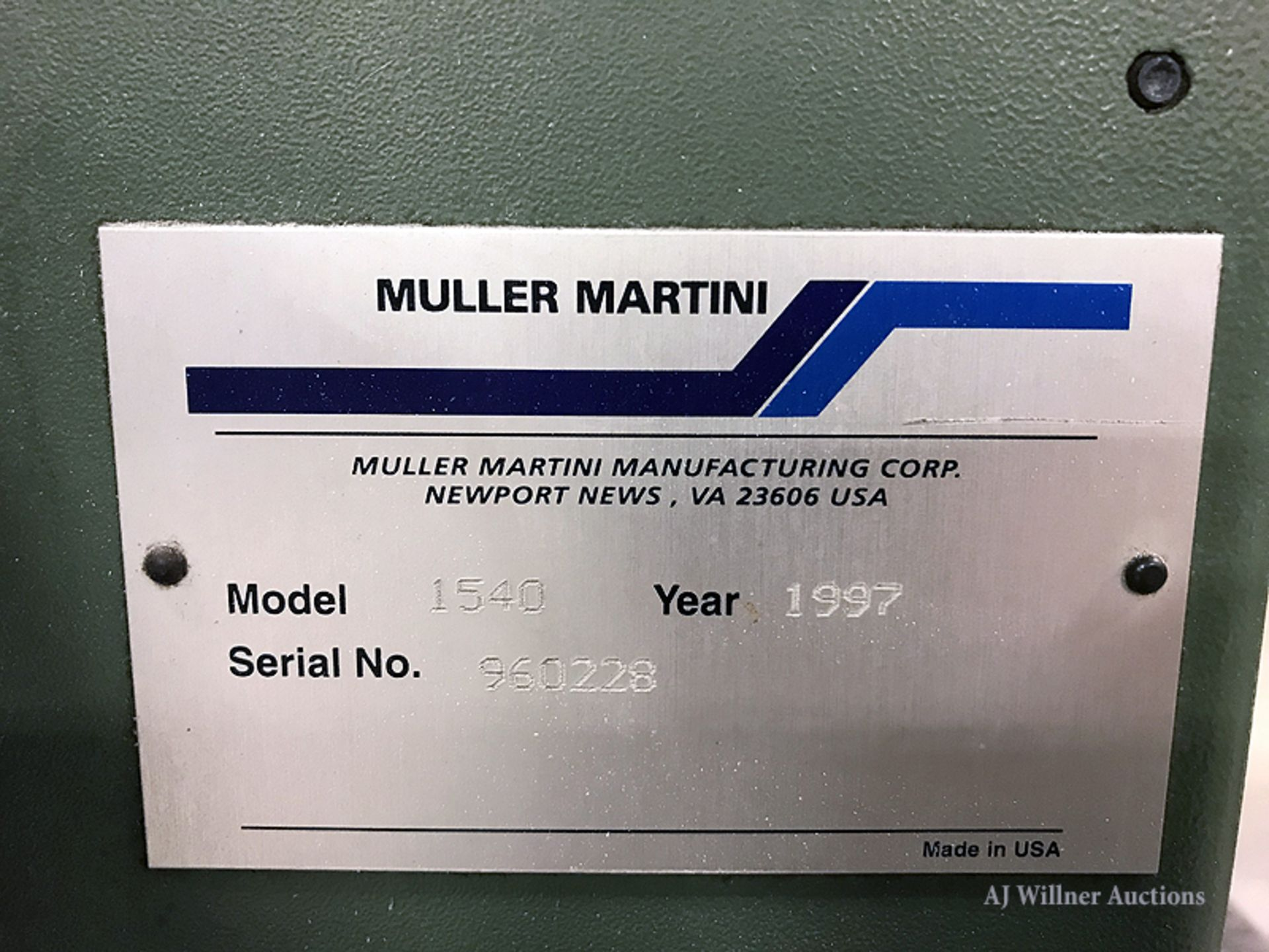 Lot 11 - Muller Martini Apollo Model 1540 Counter Stacker