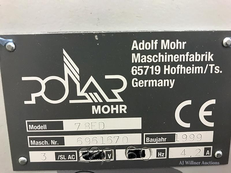Lot 12 - Polar Mohr Model 78ED Paper Cutter (1999)