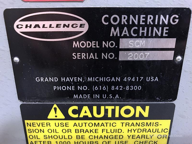 Lot 38 - Challenge SCM Single Round Cornering Machine