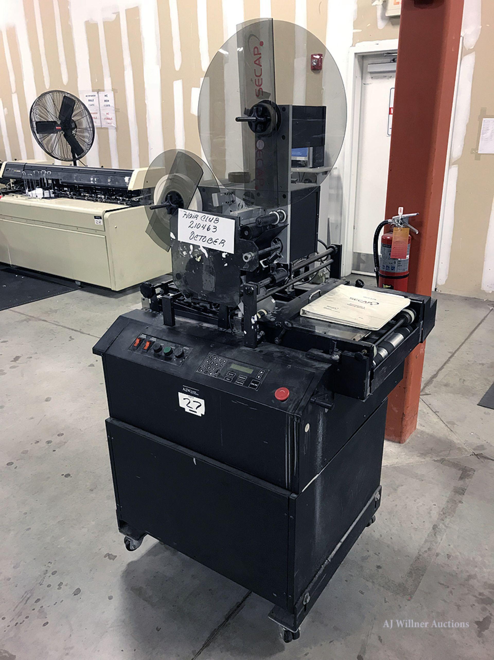 Lot 27 - Secap Model STDWH PrintStream II Tabber