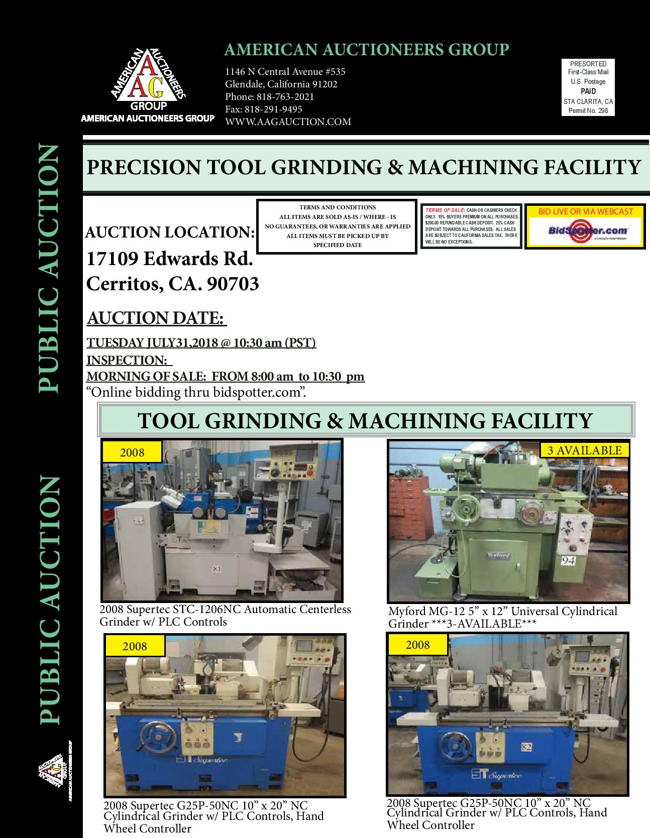 PRECISION TOOL GRINDING & MACHINING FACILITY