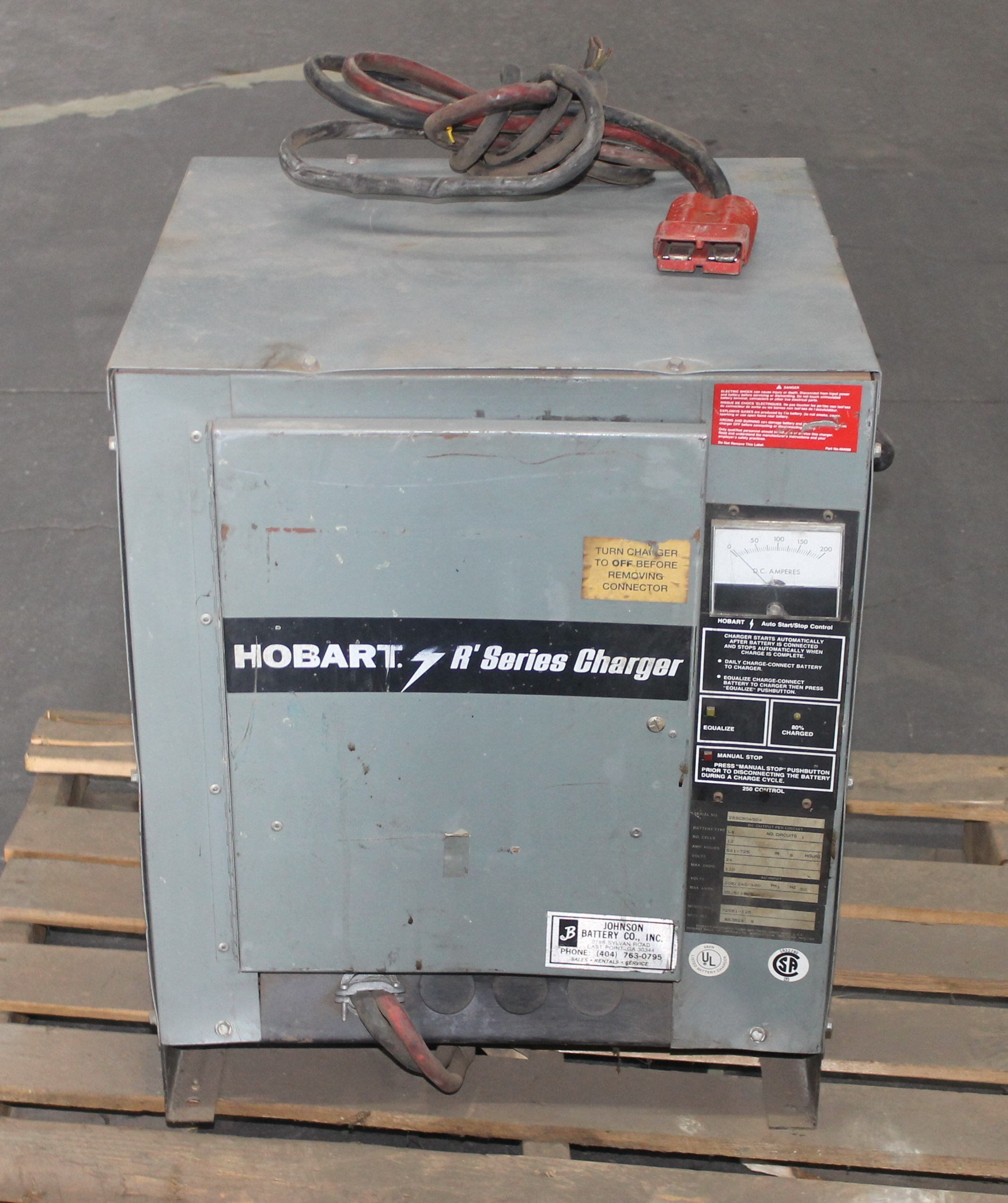 Hobart 24 Volts Battery Charger Model 725b1 12a 208 240 480 Wiring Diagram Lot 135