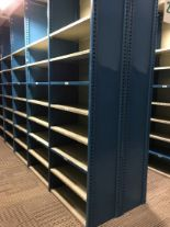"""Lot 31 - 26 SECTIONS OF HALLOWELL H-POST CLOSED SHELVING, SIZE : 98""""H X 18""""D X 36""""W WITH 5 SHELVES EACH"""
