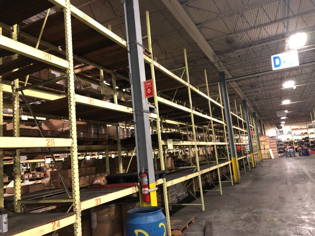 """Lot 1G - 10 BAY OF 16""""H X 96""""W X 42""""D SPEEDRACK WITH 3 LEVEL OF BEAM COLOR YELLOW"""