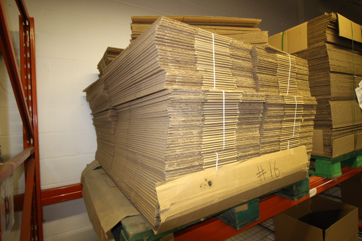 """Lot 16 - Skid lot of Packaging Boxes 16"""" X 10"""" X 6.5"""" Approx 300"""