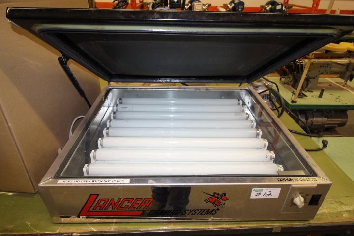 Lot 12 - Lancer Silk Screen Maker Supplies Mod#TTVX 2428 Graphic Vacuum Machiing
