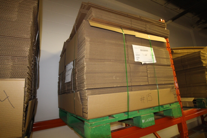 "Lot 15 - Skid lot of Packaging Boxes 24"" X 16"" X 8"" Approx 240"