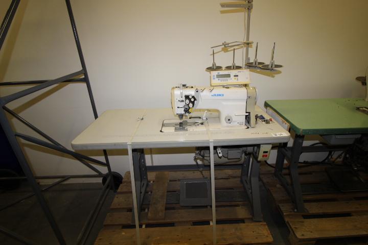 Lot 34 - Juki Double Needle Sewing Machine 110volt Single Phase, M#LH-3168-7