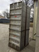 "(18) Wall-Ties 36"" x 9' aluminum concrete forms, smooth, 6-12 hole pattern"