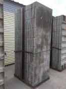 """(18) Wall-Ties 36"""" x 9' aluminum concrete forms, smooth, 6-12 hole pattern"""