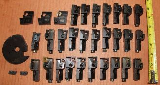 33 Piece Set of Indexable Tooling Cartridges Various Sizes