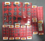 Brand New Sandvik Coromant Metric Ball Nose Carbide Coated Inserts 103 Piece Set