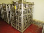 "Lot 9 - Stainless Steel Ham Molds, 6"" W X 12"" L X 5 1/2"" D, in stainless steel bin, mix of Hoy 114 & Adelman"