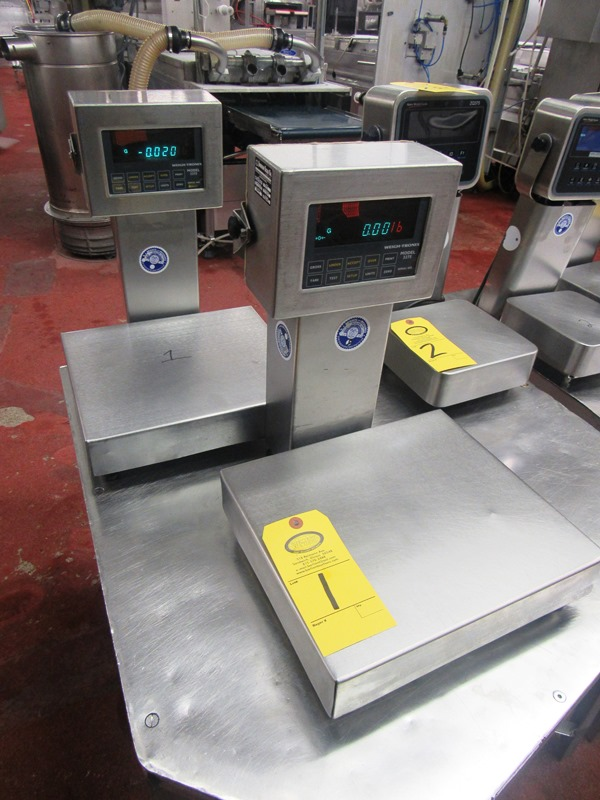 "Lot 1 - Weigh-Tronix Mdl. 3275 Stainless Steel Scales, 10 Lbs capacity, 12"" W X 13 1/2"" L"
