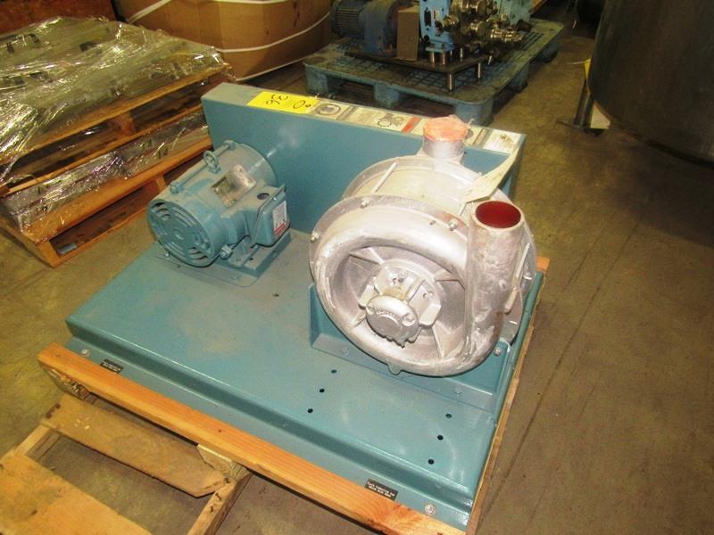 Lot 36 - Gardner-Denver Mdl. 263-ABGI Blower on 5 h.p., 230/460 volt motor