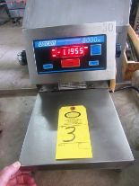 "Lot 3 - Doran Mdl. 8000XL Digital Scale, 9 3/4"" W X 9 3/4"" L stainless steel top (lights up)"