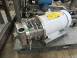 "Lot 29 - Tri Clover Stainless Steel Centrifugal Pump, 1"" inlet, 2"" outlet, on 5 h.p. wash-down motor, 230/460"