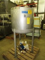 "Lot 52 - CFR Model 7K-101-65 GAL. S/S single wall tank 65 Gallon Capacity. 30"" Dia. 30"" Deep. ½ top covered"