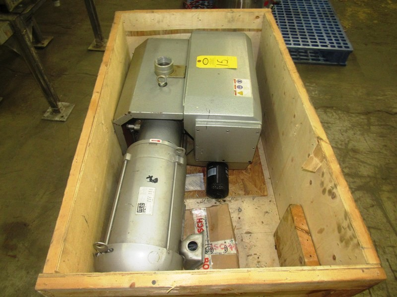 Lot 15 - Airtech Mdl. L230-01 Vacuum Pump on 7.5 h.p., 230/460 volt motor