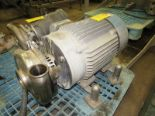 "Lot 31 - Tri Clover Stainless Steel Centrifugal Pump, 2 1/2"" inlet, 4"" outlet, on Baldor motor"