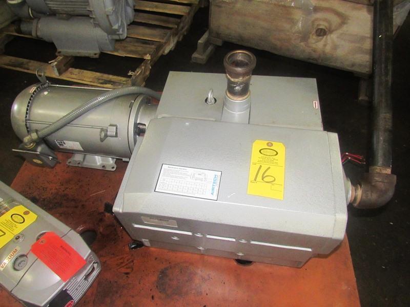 Lot 16 - Airtech Mdl. L230-B Vacuum Pump on 7.5 h.p., 230/460 volt motor