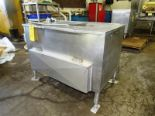 "Lot 38 - Stainless steel water heating/holding tank. 19"" wide x 34"" long x 13"" deep reservoir. With Pump,"