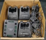 Lot 25 - 4-MOTOROLA CHARGING BASE STATIONS W/POWER SUPPLY