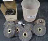 Lot 24 - LOT-ASSORTED WIRE WHEELS, (1-USED)