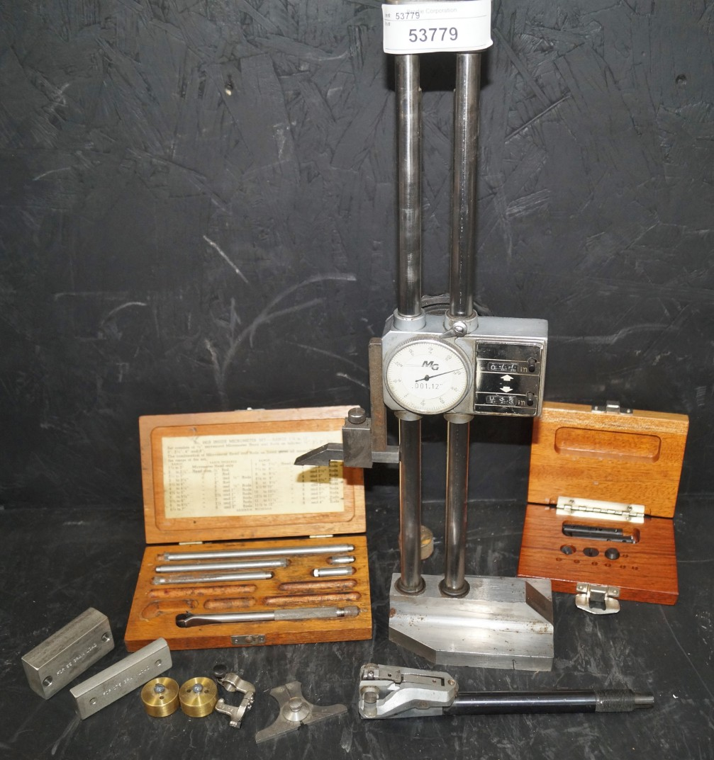 Lot 9 - MISC INSPECTION, HGHT GAGE, INSIDE MICROMETER, ETC