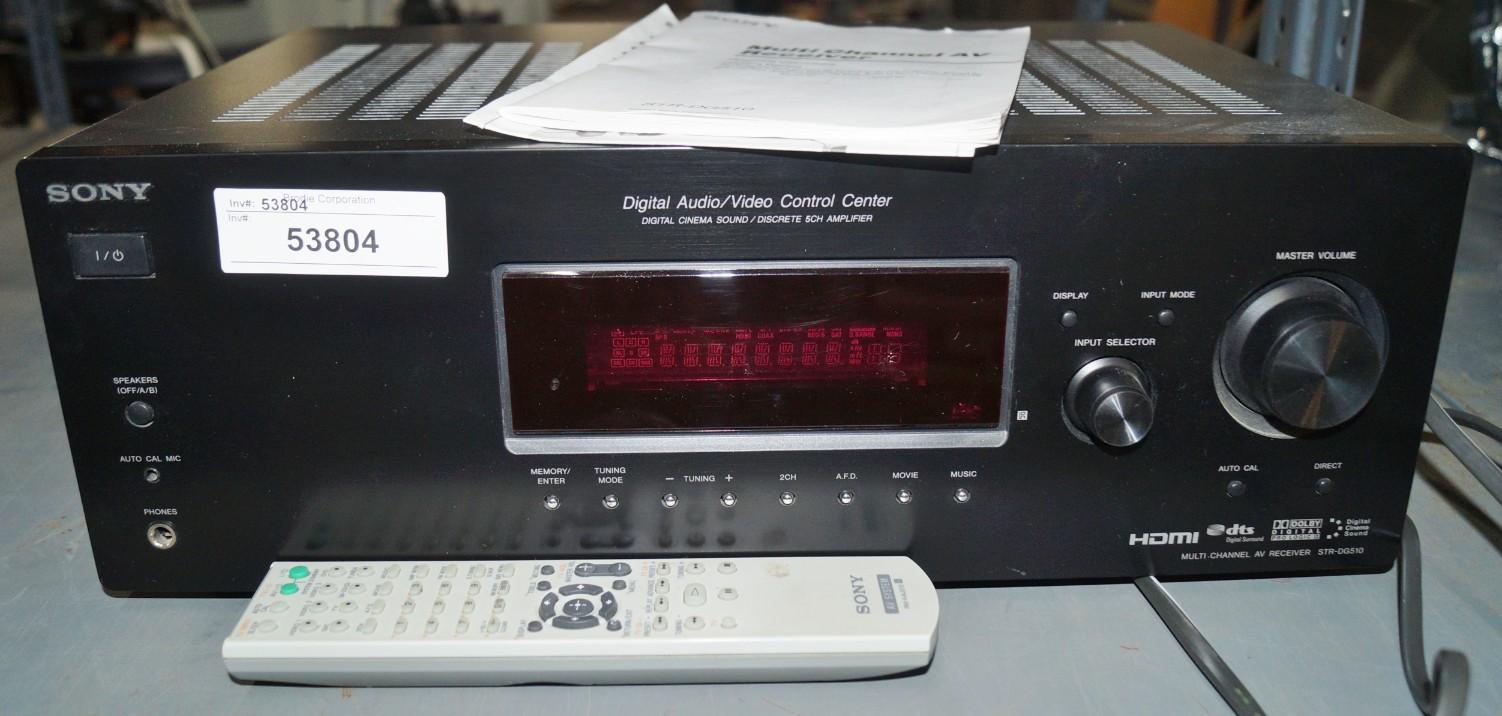 Lot 33 - SONY STR-DG510, DIGITAL VIDEO CONTROL CENTER