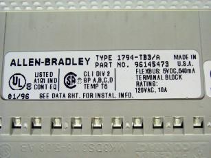Lot 55 - ALLEN BRADLEY 1794-TB3/A, PLC FLEXBUB TERMINAL BLK