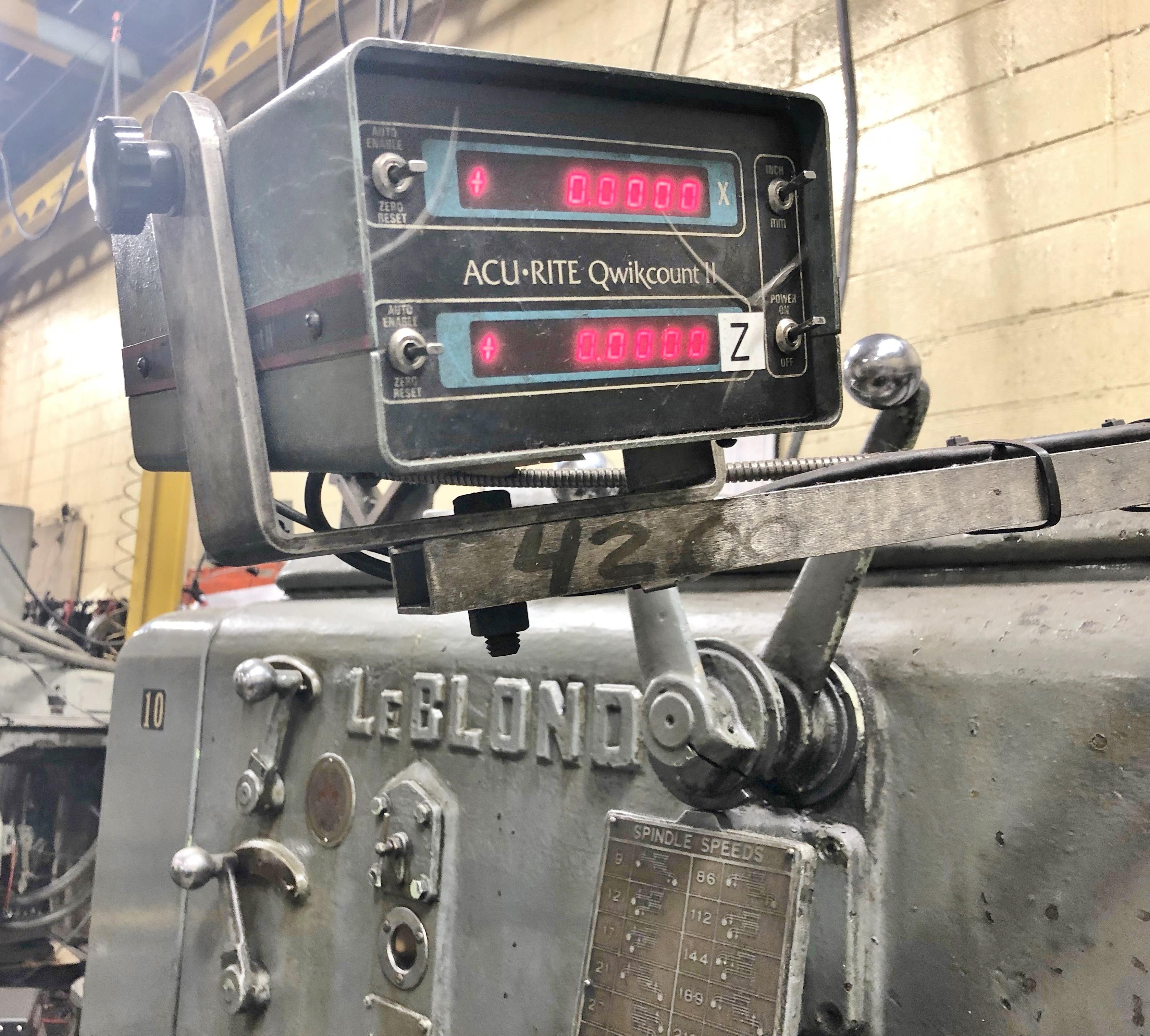 "Lot 6 - LEBLOND 54"" X 80"" H D GEARED HEAD ENGINE LATHE"