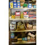 LOT - HARDWARE (NUTS & BOLTS)ON SHELF & FLOOR
