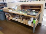 Lot 33 - WOOD TOP WORK TABLE 3' X 8'