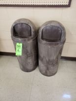 Lot 6 - (3) RUBERMAID TRASH CANS