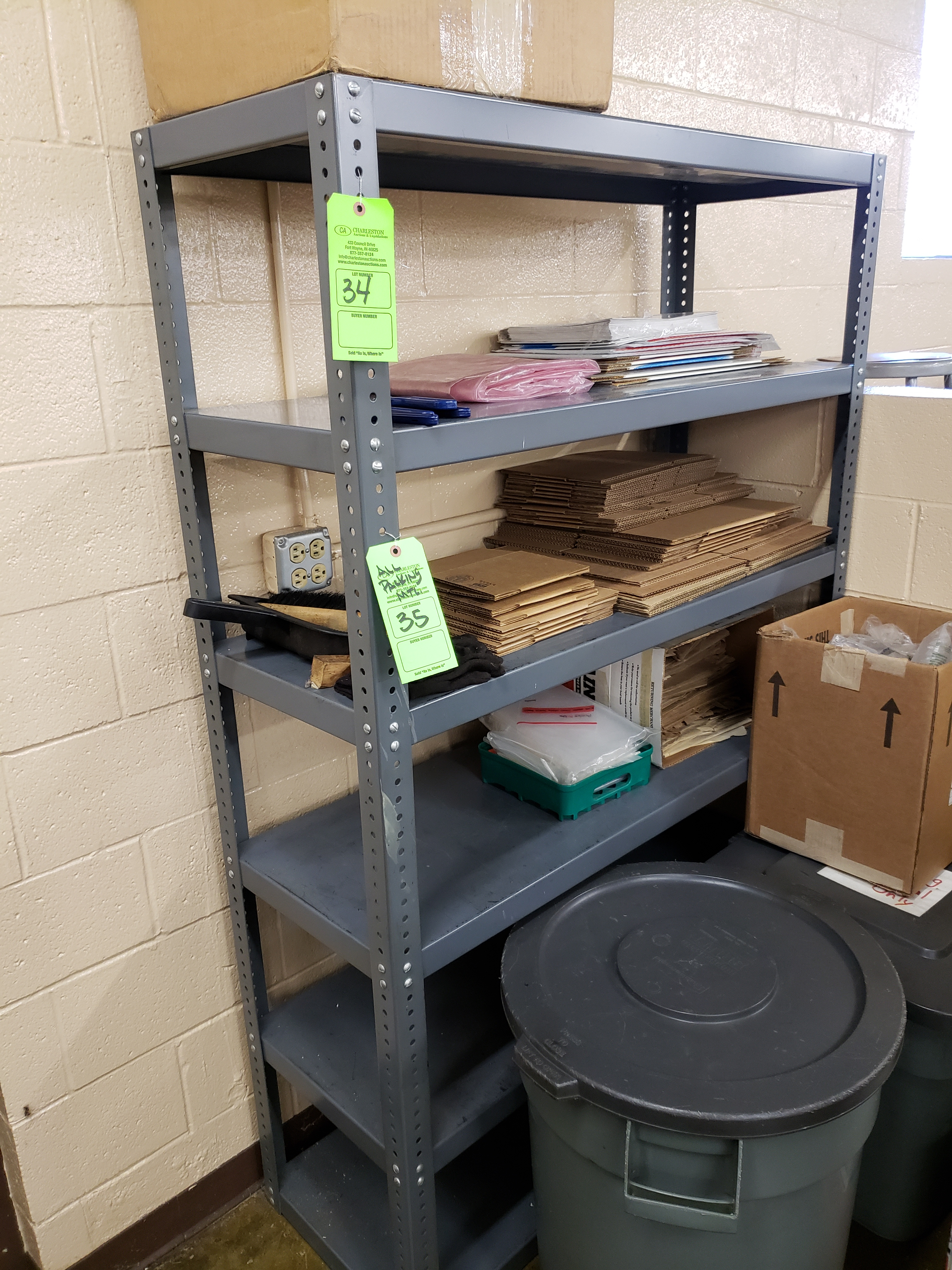 Lot 34 - (1) SECTION PAN SHELVING