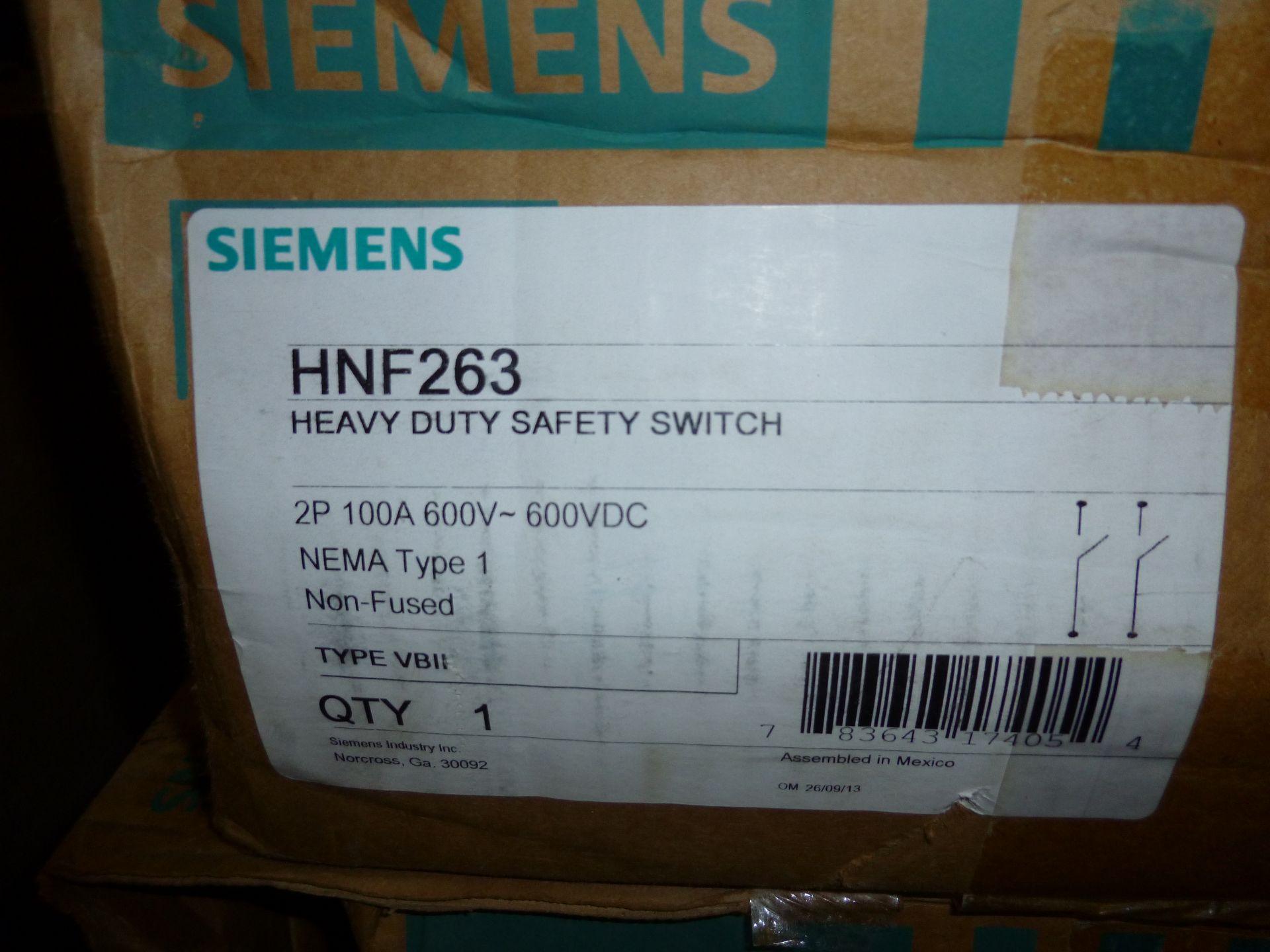 Lot 36 - Qty 2 Siemens model HNF263, heavy duty safety switch, new in box