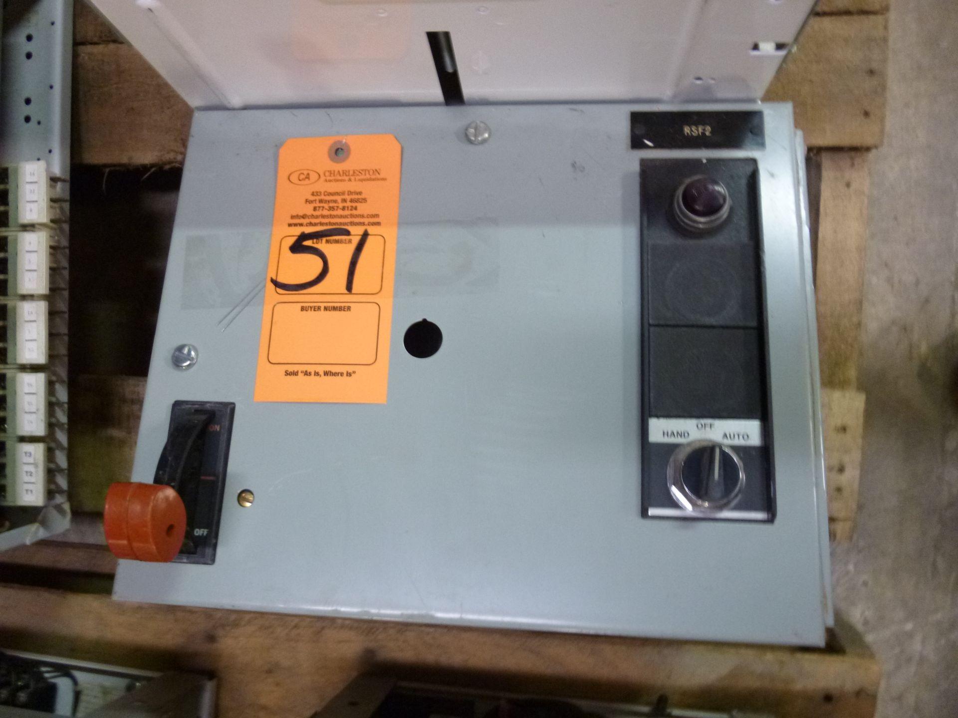 Lot 51 - GE motor control center MCC bucket model 8000, type FVNR, 3 phase, 208v, 3 hp, size 1 bucket,