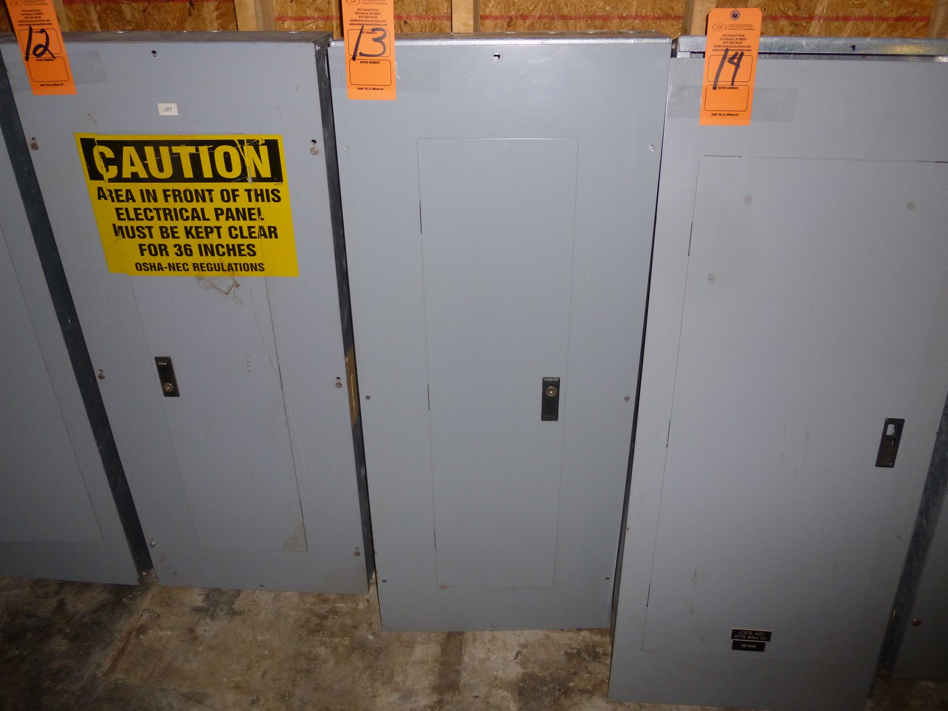 Lot 13 - Cutler Hammer model PRL1A, 225amp box, 120/208 volt, 3 phase, 4 wire, includes all breakers as