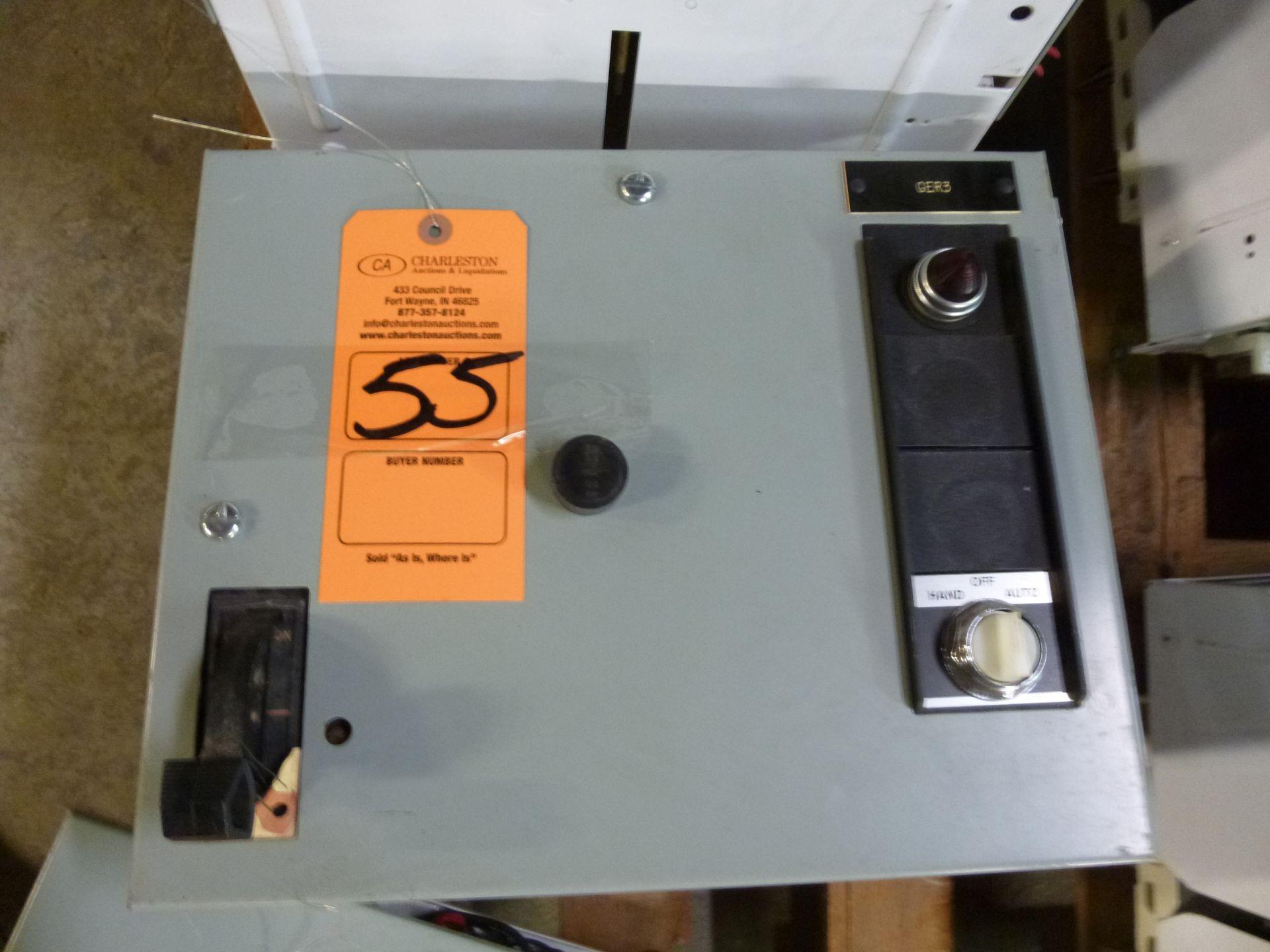 Lot 55 - GE motor control center MCC bucket model 8000, type FVNR, 3 phase, 208v, 2 hp, size 1 bucket,