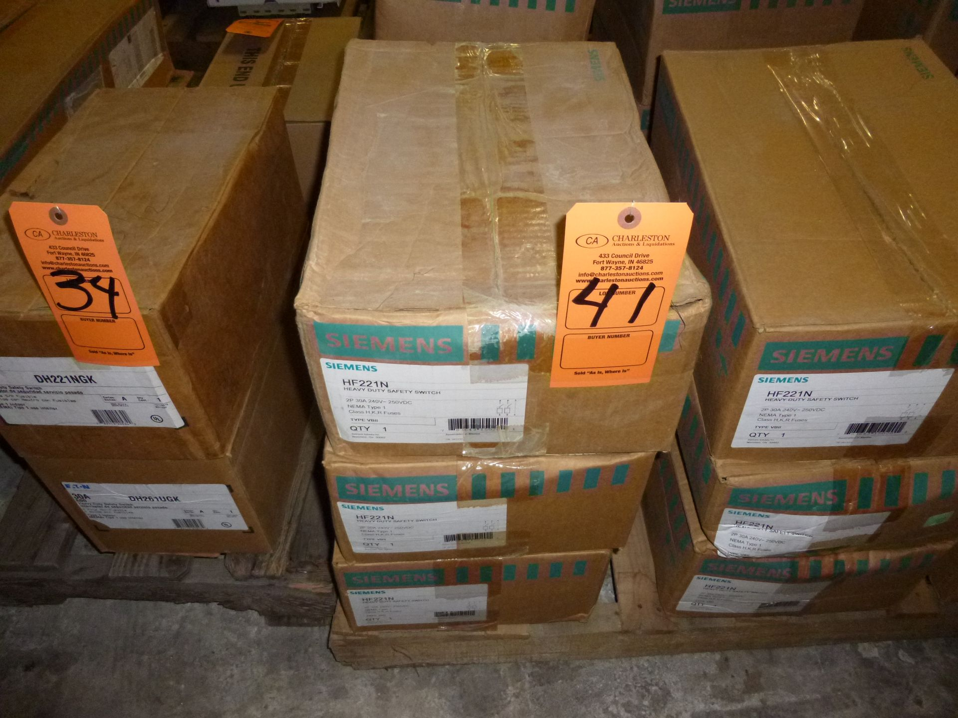 Lot 41 - Qty 3 Siemens model HF221N, heavy duty safety switch, new in boxes