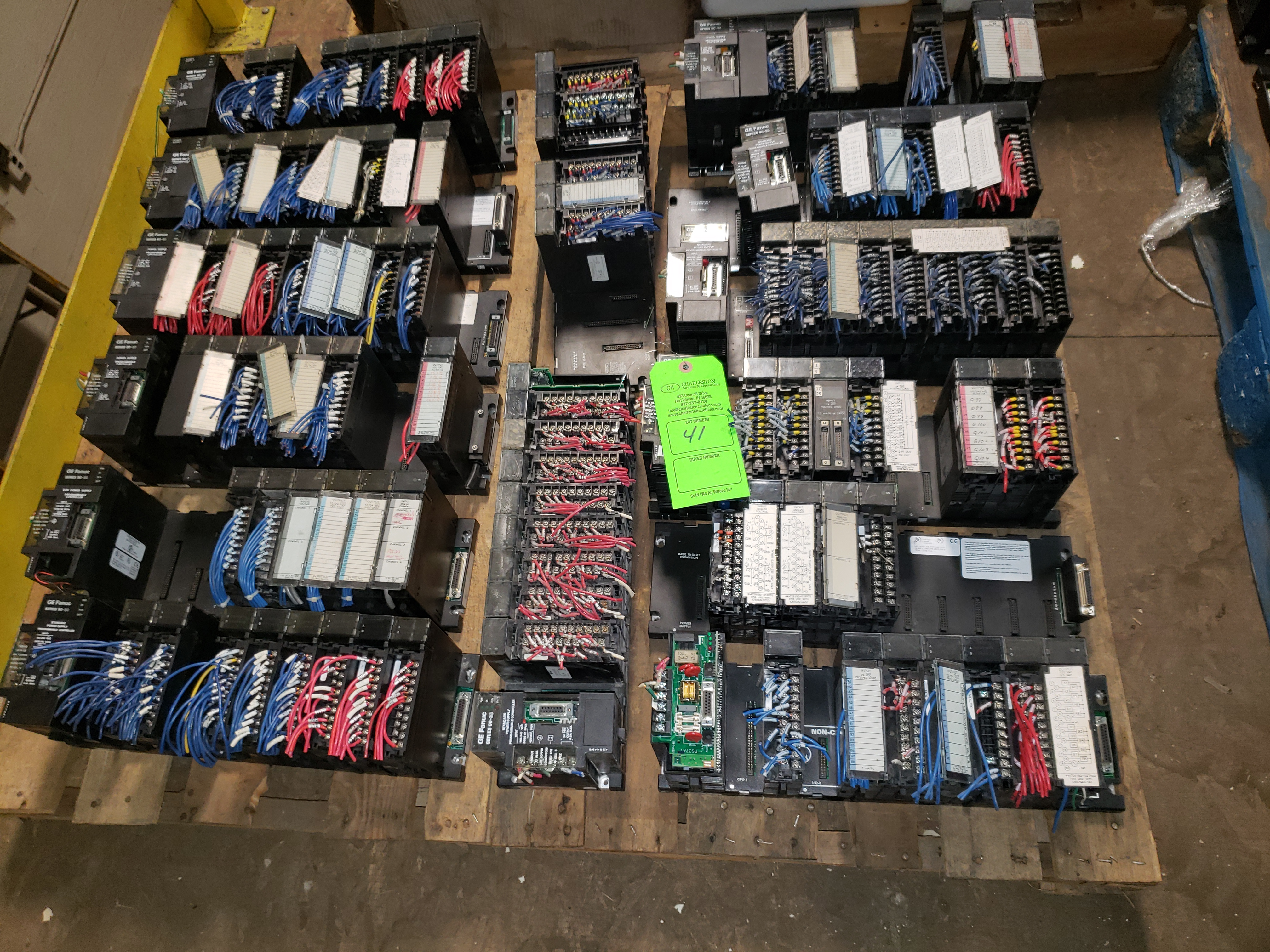 Lot 41 - PALLET OF GE FANUC SERIES 90 PROGRAMMABLE CONTROLS