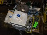 Lot 19 - PALLET OF PIPE HANGERS; EYE BOLTS & MISC