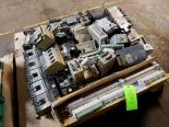 Lot 10 - PALLET OF SQUARE D CIRCUIT BREAKERS; VARIOUS PROGRAMMABLE CONTROLLERS & FUJI AF300ES DRIVE