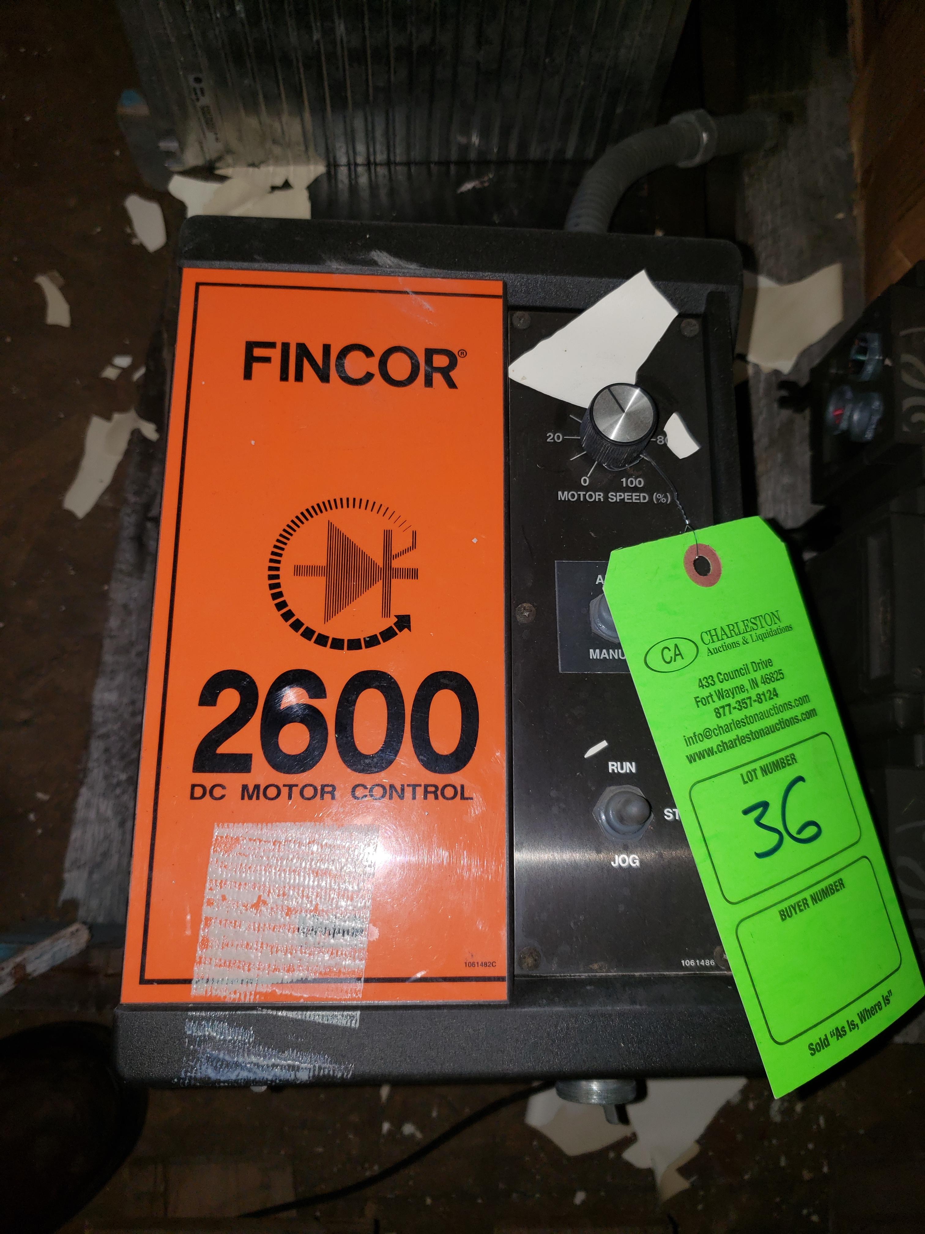 Lot 36 - FINCOR 2600 DC MOTOR CONTROL